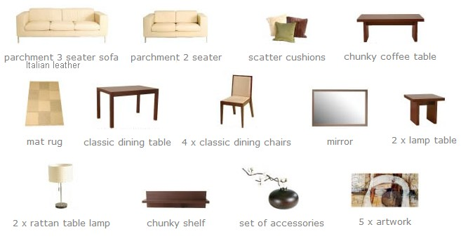 Furniture Pack for Classic tastes