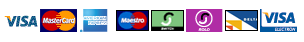 Visa, Delta, Amex, Mastercard, Maestro, Switch, Solo, visa electron accepted by Credit Cards by RBS WorldPay