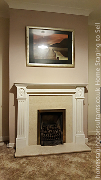 Fireplace after Home Staging