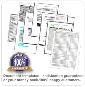 Document Templates Forms Stationery pack for small businesses