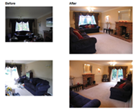Home Staging Picture - Lounge before and after