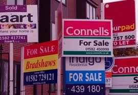 For Sale Boards - Displayed on street