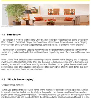 Home Staging Business ebook section 4 Home Staging in the US - start of page
