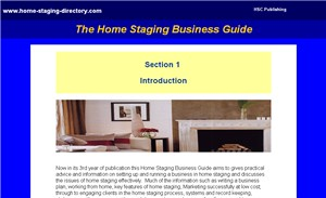 Home Staging Business ebook section 1Intro - start of page